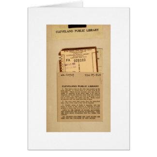 Bibliotek daterar rakt kortet hälsningskort