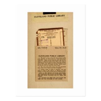 Bibliotek daterar rakt kortet och frimärken vykort