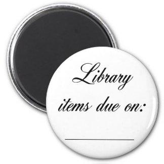 Bibliotek daterar rakt påminnelse magnet