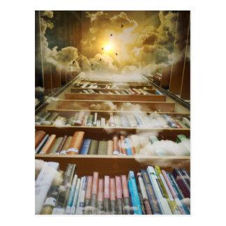 Bibliotek i himmlen vykort