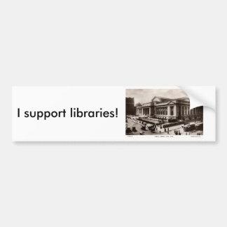 Bibliotek New York City c1910 vintage Bildekaler