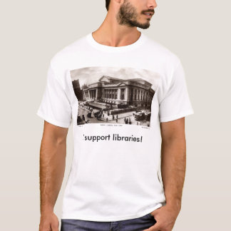 Bibliotek New York City c1910 vintage Tshirts