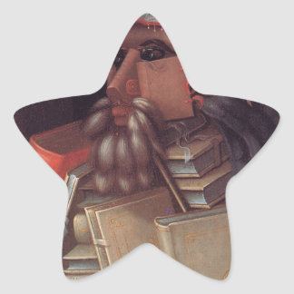 Bibliotekarien av Giuseppe Arcimboldo Stjärnformat Klistermärke