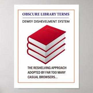 Bibliotekaries påminnelse poster