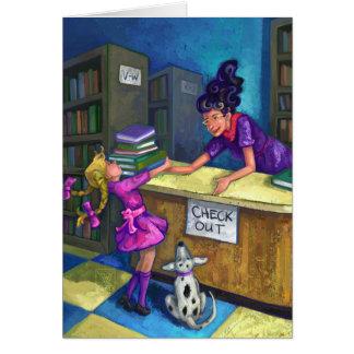 Bibliotekkontroll ut hälsningskort