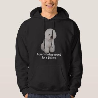 Bichon Frise dyrbar unisex- Hooded tröja
