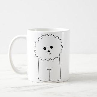 Bichon Frise, gullig hund Kaffemugg