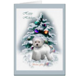 Bichon Frise julgåvor Hälsningskort