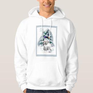 Bichon Frise julgåvor Sweatshirt Med Luva