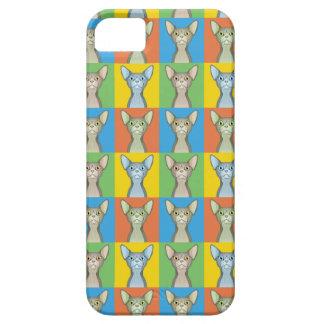 (Bicolor) Pop-Konst för Sphynx tecknadkatt, iPhone 5 Cover