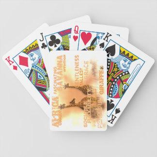 Bicycle® poker som leker unika giraff för kort spelkort