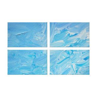 Biet av akryl för himmelabstraktExpressionist Canvastryck