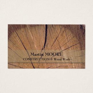 Biet av wood lantlig grov realistisk yta visitkort
