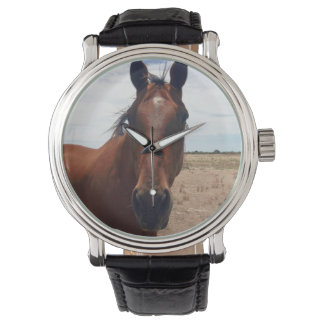 Big_Brown-Horse _Men's_Leather_Watch.