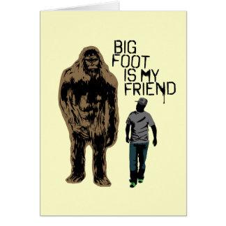 Bigfoot är min vän hälsningskort