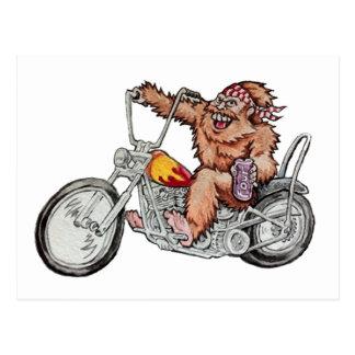 Bigfoot biker vykort