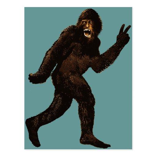 Bigfoot fredstecken vykort