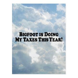Bigfoot gör min grundläggande skatter - vykort