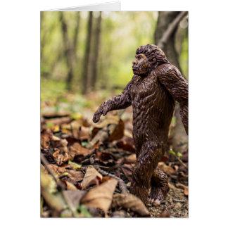 Bigfoot hälsningkort   Sasquatch Hälsningskort