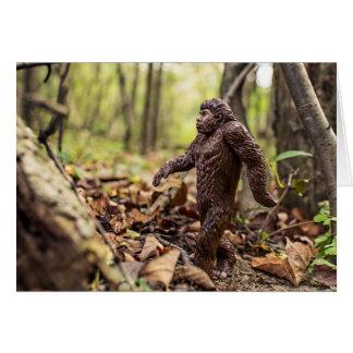 Bigfoot hälsningkort | Sasquatch Hälsningskort