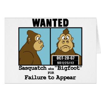 Bigfoot Hälsningskort