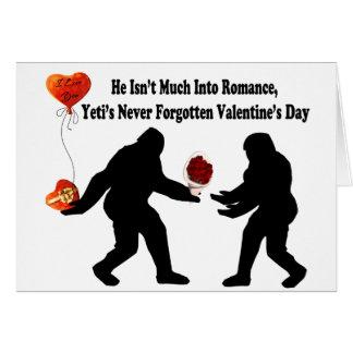Bigfoot minns valentin dag hälsningskort