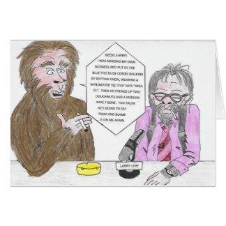 Bigfoot och Larry födelsedagkort Hälsningskort