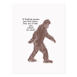 Bigfoot Vykort