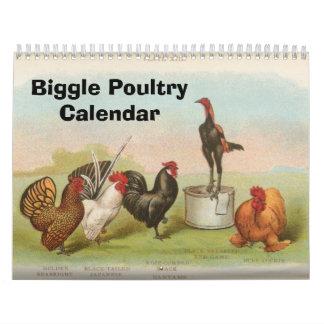 Biggle höna Calendar Kalender