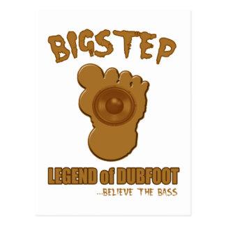 Bigstep legend av Dubfoot ROLIGA BIGFOOT DUBSTEP Vykort