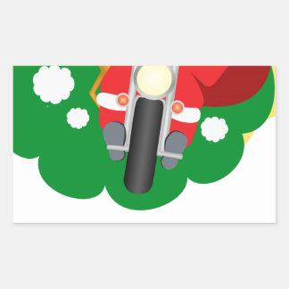 Biker Santa Rektangulärt Klistermärke