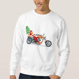 Biker Santa som rider en motorcykel Långärmad Tröja