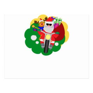 Biker Santa Vykort