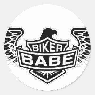 BikerBabe Runt Klistermärke