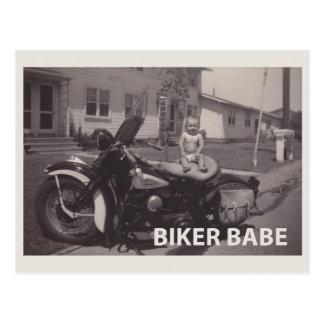 bikerbabe vykort