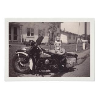 bikerbebis 8,9 x 12,7 cm inbjudningskort