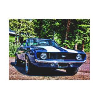 Bil 1969 för Camaro SS toppen sportmuskel Canvastryck