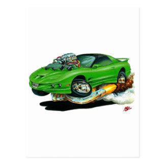 Bil 1993-97 för trans.-förmiddaggrönt vykort