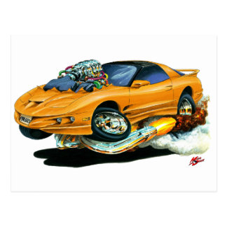 Bil 1993-97 för trans.-förmiddagorange vykort