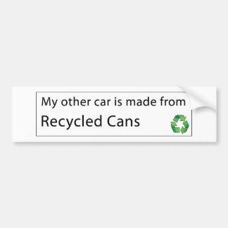 Bil - återanvända Cans Bildekal