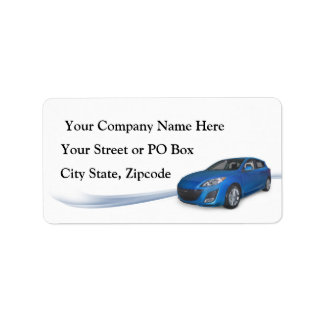 Bil Detailer Adressetikett