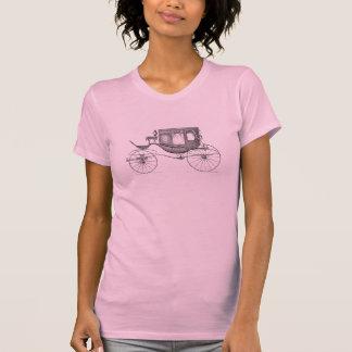 Bil för Buggy för vintage1800svagn häst dragen Tee Shirt