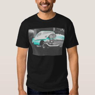 bil för klassiker för 1958 blått för chevy impala t-shirts