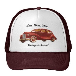 Bilar Vin Manar Vintage är bättre Rolig hatt Kepsar