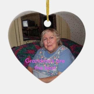 Bild 069, mormor är det bäst julgransprydnad keramik