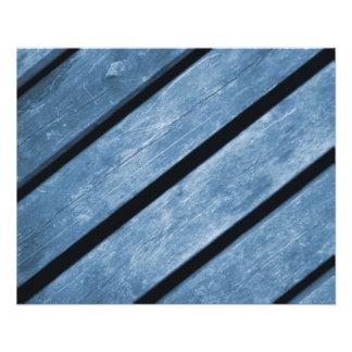 Bild av blåttträplankor flygblad