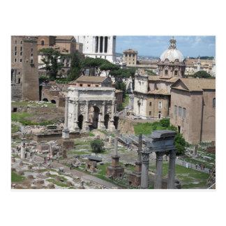 Bild av det romerska fora vykort