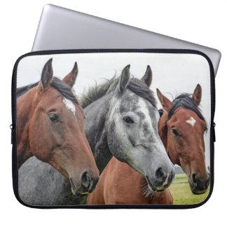 Bild av hästar laptop fodral