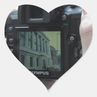 Bild i bild hjärtformat klistermärke
