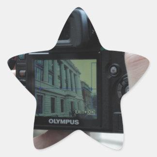 Bild i bild stjärnformat klistermärke
